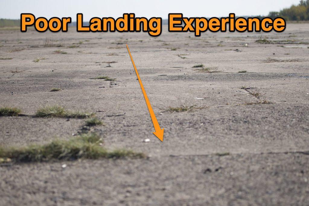 Poor Landing Experience